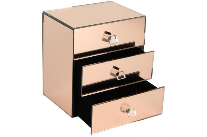 Coffret à Bijoux Effet Miroir ARIES - Boîte de Rangement Pas Cher