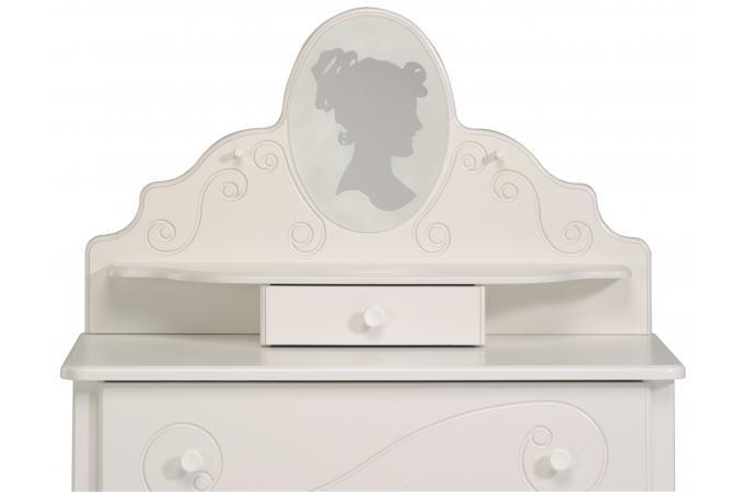 coiffeuse pour chambre enfant blanc laqu romane chambre. Black Bedroom Furniture Sets. Home Design Ideas