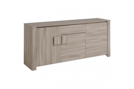 commode 3 portes 1 tiroir ch ne gris brada commode pas cher. Black Bedroom Furniture Sets. Home Design Ideas
