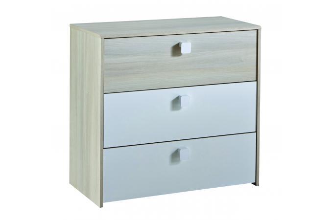 commode 3 tiroirs alpha meubles en ligne. Black Bedroom Furniture Sets. Home Design Ideas