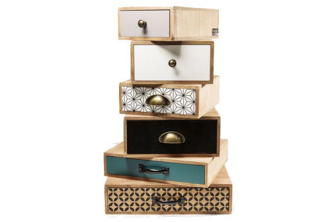 Commode kare design 6 tiroirs destructur s capri meuble de rangement pas cher - Meuble kare design ...