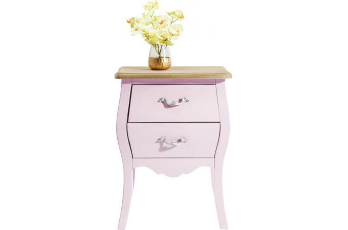 commode kare design baroque rose pastel h45cm romantic meuble de rangement pas cher. Black Bedroom Furniture Sets. Home Design Ideas
