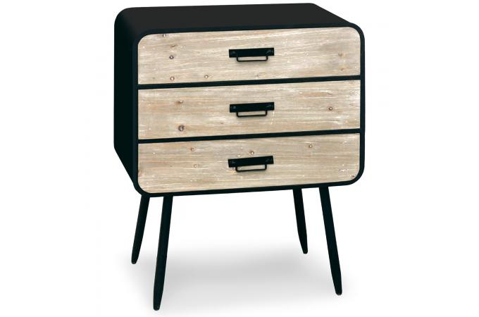 Commode noire pas cher affordable stunning commode for Commode metal fly