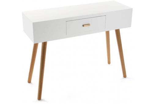 Console blanche design scandinave pied bois abigaelle - Console scandinave pas cher ...