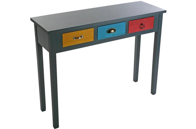 console d 39 entr e multicolore avec tiroir patchos console. Black Bedroom Furniture Sets. Home Design Ideas