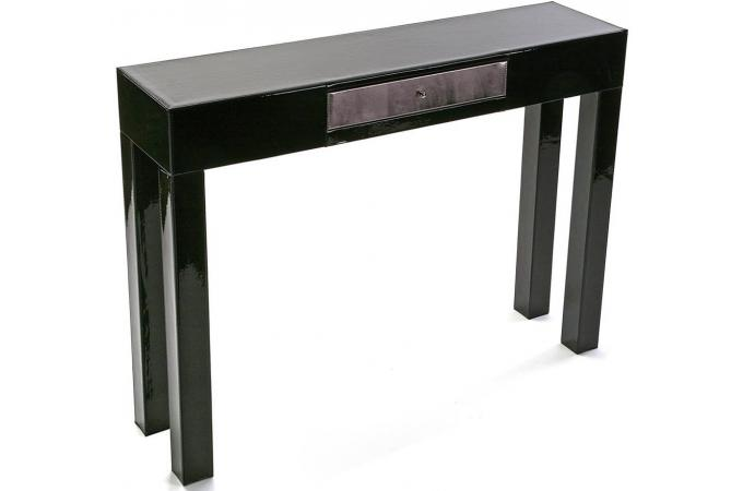 console d 39 entr e noire avec tiroir monzita console pas cher. Black Bedroom Furniture Sets. Home Design Ideas