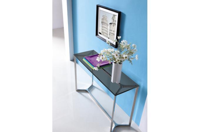 console en verre fum tree table console pas cher. Black Bedroom Furniture Sets. Home Design Ideas
