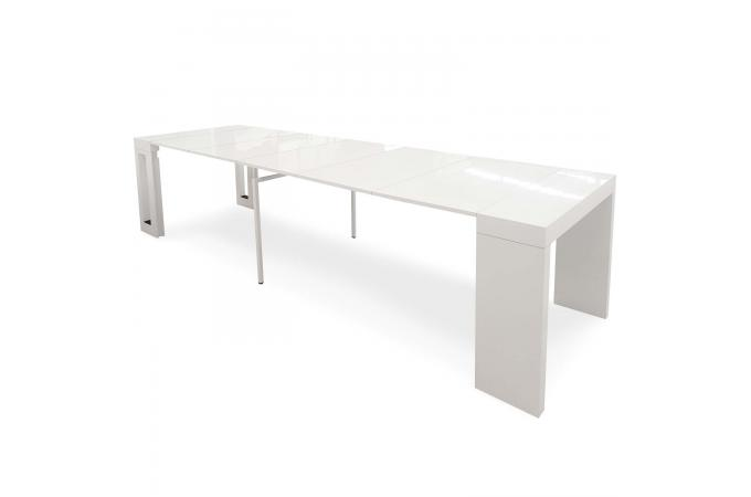 console extensible blanc laqu mayline table console pas. Black Bedroom Furniture Sets. Home Design Ideas