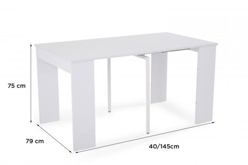 Console Extensible Blanche 145cm NEW ORLEANS