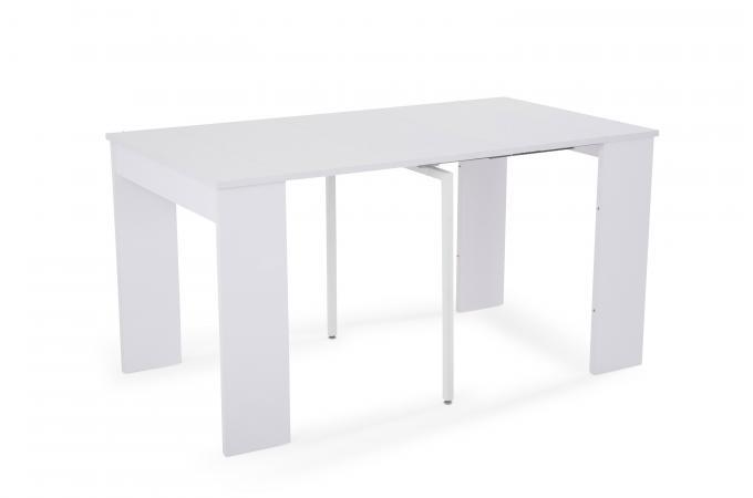 console extensible blanche 145cm new orleans console pas cher. Black Bedroom Furniture Sets. Home Design Ideas