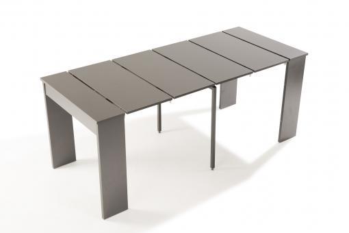 console extensible grise 180cm laqu marie line console pas cher. Black Bedroom Furniture Sets. Home Design Ideas
