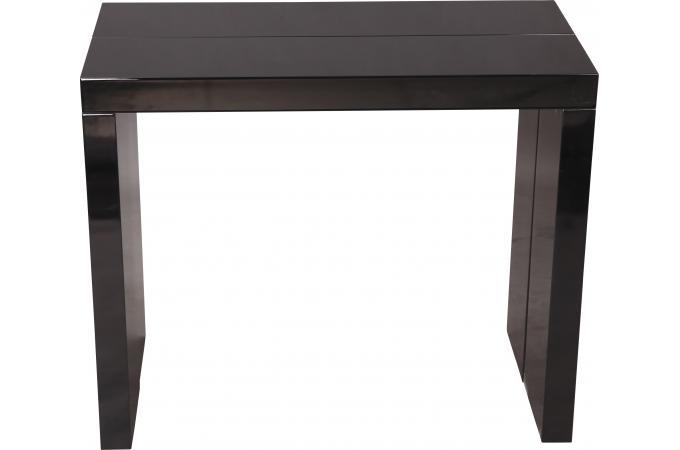 Console extensible noire 250cm laque chicago table console pas cher - Console extensible 250 cm ...