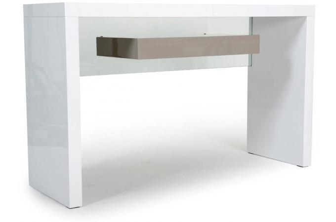 console laqu e avec une tablette blanche speto console. Black Bedroom Furniture Sets. Home Design Ideas