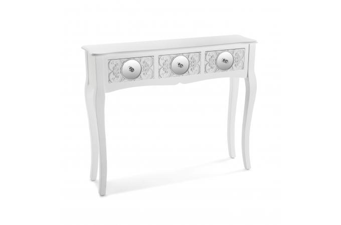 console miroir bois blanc elgin - console pas cher