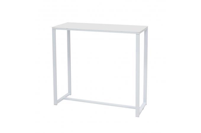 console verre et m tal blanche modern console pas cher. Black Bedroom Furniture Sets. Home Design Ideas