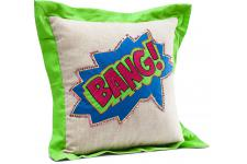 Coussin Cartoon Bang 35x35cm - Coussin kare design