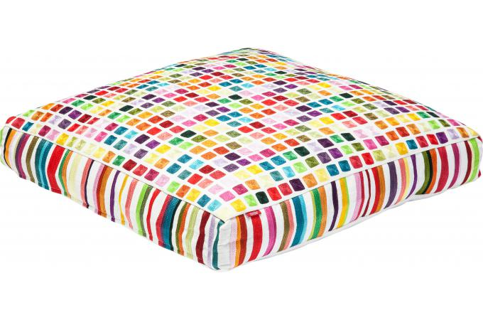 coussin de sol squares multi colour 70x70cm coussin pas cher. Black Bedroom Furniture Sets. Home Design Ideas