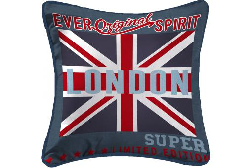 Coussin En Microfibre Imprimé Londres 40x40 WILLIAM