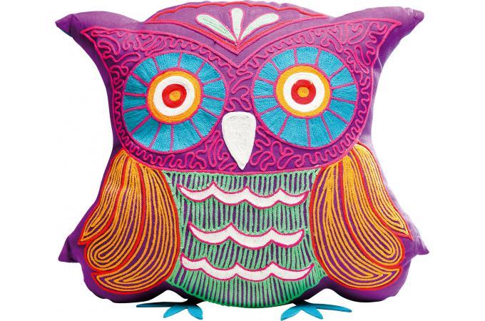 coussin hibou violet bertrand coussin pas cher. Black Bedroom Furniture Sets. Home Design Ideas