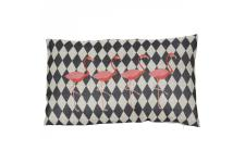 Coussin Impression Flamants Rose Noir 30X50 NYX