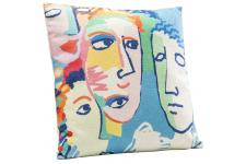 Coussin Kare Design Impression Multivisages PICASSA - Coussin design