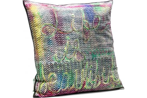 Coussin Life Is Beautiful 45x45cm