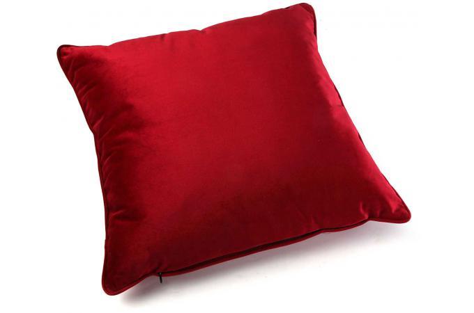 Coussin uni rouge 45x45 azurite coussin pas cher for Coussin exterieur 45x45