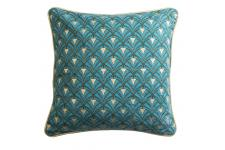 DeclikDeco - Coussin Velours Bleu BOLIVAR - Inspiration jungle