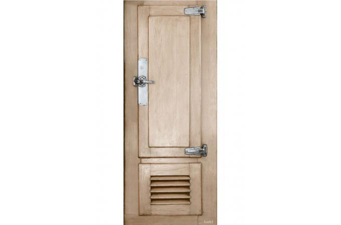 d co de portes et murs en velours frigo de boucher papier peint trompe l 39 oeil pas cher. Black Bedroom Furniture Sets. Home Design Ideas