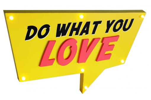 Deco Lumineuse Do What You Love LIGHTS