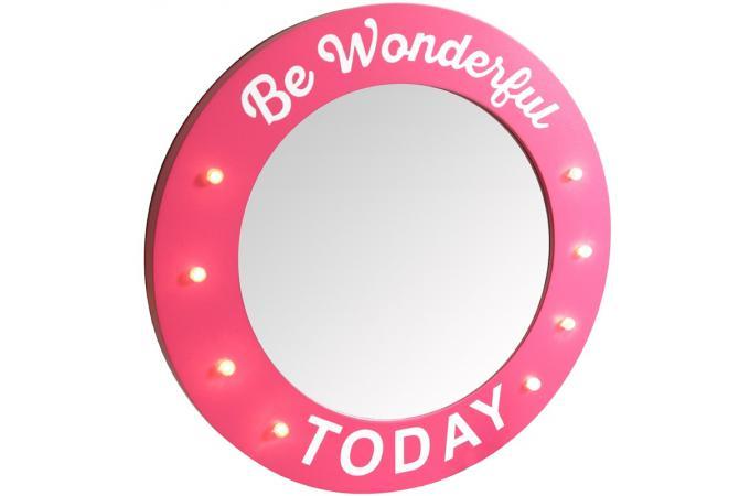 Deco lumineuse miroir be wonderful lights miroir rond et for Miroir hd pro