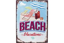 KARE DESIGN - Décoration Murale Attitude Beach Vacations L.40 x H.30 cm - Tableau baroque