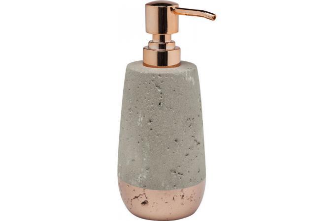 Distributeur kare design de savon b ton et cuivre concrete for Accessoire salle de bain cuivre