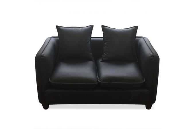 ensemble 2 canap s et 1 fauteuil 3 2 1 places noir igual canap 3 places et plus pas cher. Black Bedroom Furniture Sets. Home Design Ideas