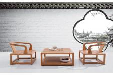 Ensemble 2 Fauteuils + 1 Table Basse En Teck NATURE - Salon de jardin design
