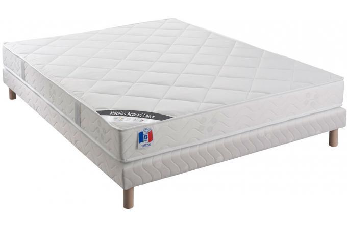 ensemble matelas latex et mousse 25kg m3 2 faces cm. Black Bedroom Furniture Sets. Home Design Ideas