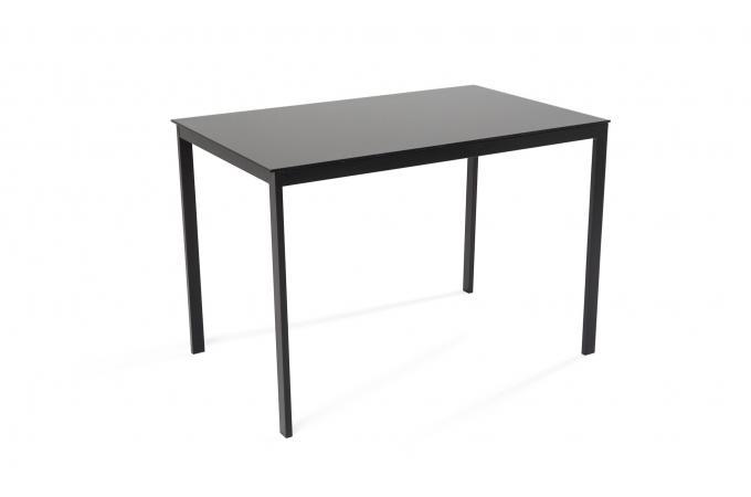 Ensemble Table + 4 Chaises Verre Noir ICE Plus d\'infos