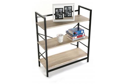 etag re bois et m tal noir valeria etag re pas cher. Black Bedroom Furniture Sets. Home Design Ideas