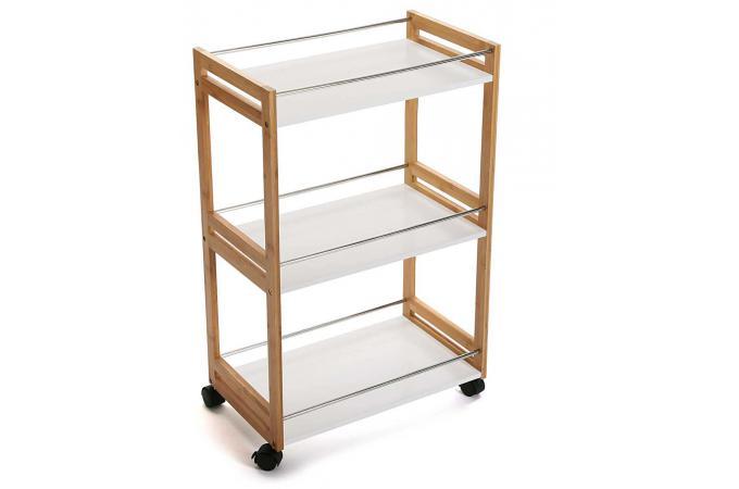 desserte bois et blanche rectangulaire lieggy etag re pas cher. Black Bedroom Furniture Sets. Home Design Ideas