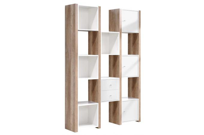 etag re blanche en bois cubix meuble de rangement pas cher. Black Bedroom Furniture Sets. Home Design Ideas