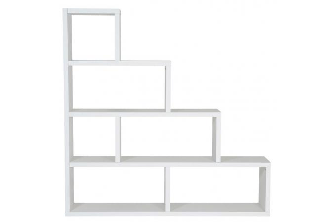 Etagere Escalier 6 Compartiments Blanc Ticia Etagere Pas Cher