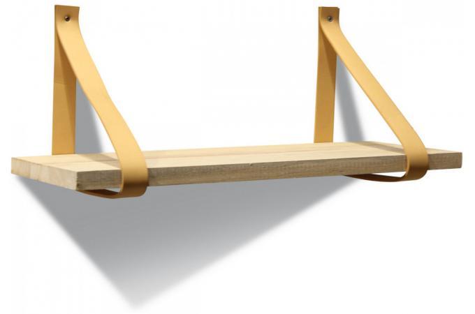 etag re murale bois et cuir etag re pas cher. Black Bedroom Furniture Sets. Home Design Ideas
