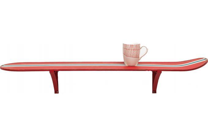 etag re murale surf time rouge etag re pas cher. Black Bedroom Furniture Sets. Home Design Ideas