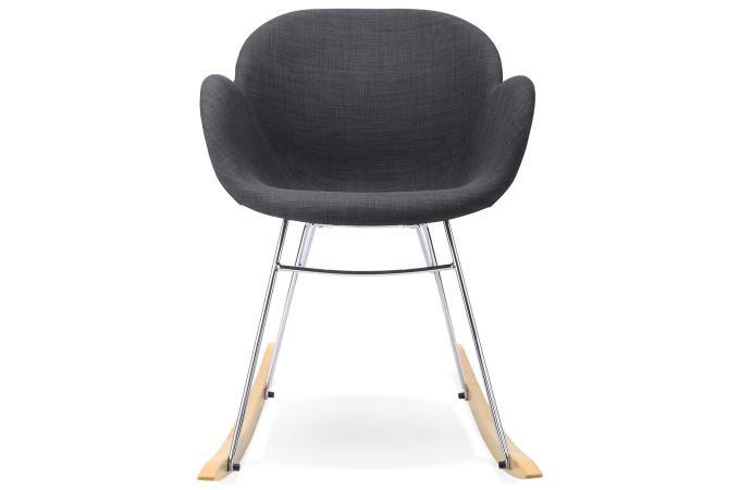 Fauteuil bascule en tissu gris sequan fauteuil design pas cher - Fauteuil a bascule pas cher ...