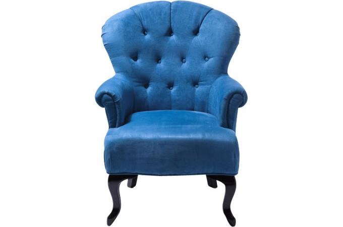 fauteuil baroque capitonn bleu declikdeco. Black Bedroom Furniture Sets. Home Design Ideas