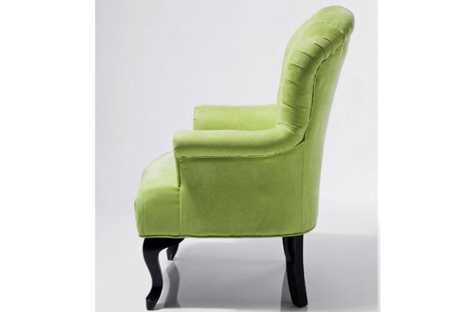 Fauteuil baroque capitonn vert anis fauteuils design pas cher - Fauteuil crapaud vert anis ...