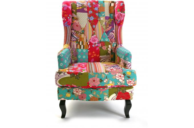 fauteuil berg re en tissu patchwork rosa fauteuil design pas cher. Black Bedroom Furniture Sets. Home Design Ideas