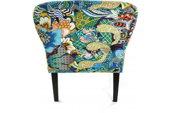 fauteuil berg re en tissu patchwork tropical fauteuil design pas cher. Black Bedroom Furniture Sets. Home Design Ideas