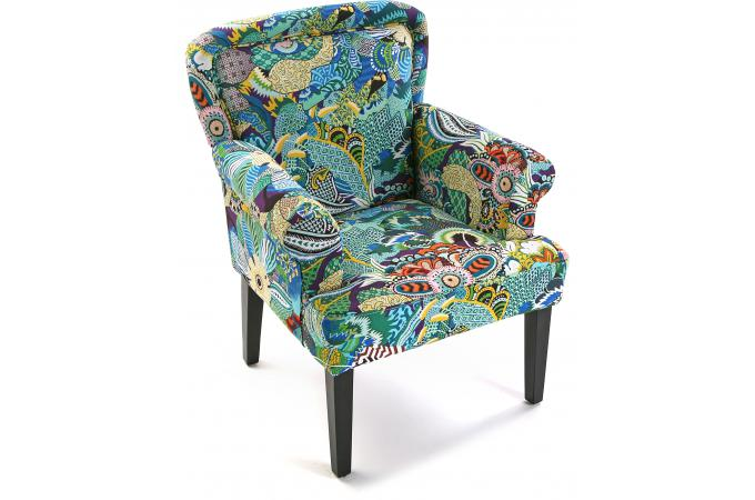 fauteuil berg re en tissu patchwork tropical fauteuil design pas cher. Black Bedroom Furniture Sets. Home Design Ideas