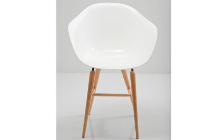 Chaise Blanche Avec Accoudoirs Forum Fauteuil Design Blanc
